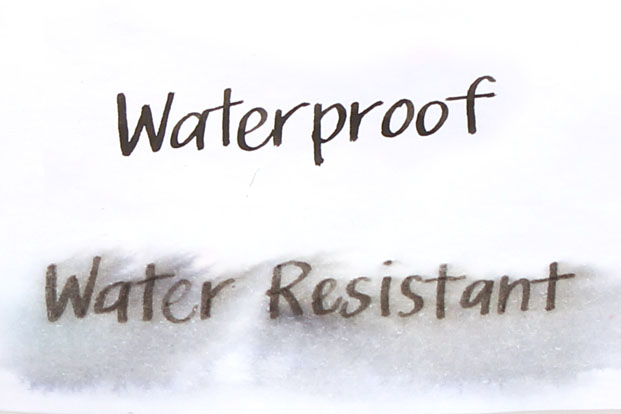 waterproof vs water resistance