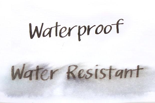 waterproof vs water resistance