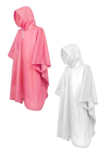ZSHOW Unisex's Adult Rain Poncho Hooded Raincoat