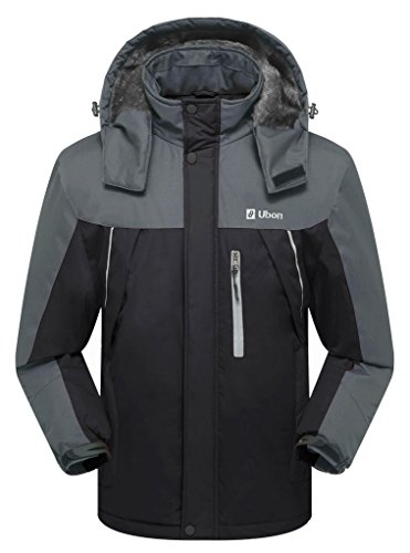 Ubon Men's Waterproof Windproof Snow Jacket